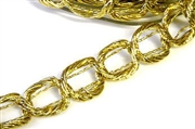 1m metallic gold ribbon chain
