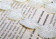 20cm ivory scalloped lace