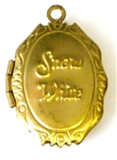 1pc locket brass snow white 26x15mm