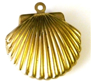 2pc locket brass shell 20x25mm