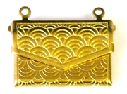1pc locket brass envelope with scroll 22x15mm