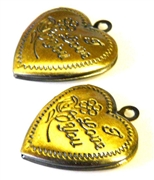 2pc antique brass love you locket
