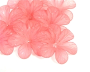10pc 30mm posey flowers lucite pink