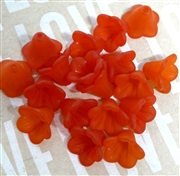 10pc 10mm Lucite Bell Flowers Red