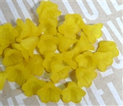10pc 10mm Lucite Bell Flowers Yellow