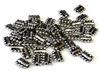 10pc antique silver pewter harmonica beads
