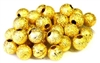 25pc gold plated stardust rounds 4mm