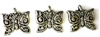 10pc tibetan silver butterfly charms
