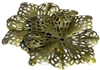 2pc filigree square base antique brass 40mm