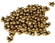 50pc large metalized plastic antique gold 3 dot spacer