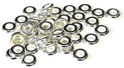10pc metalized plastic silver donut bead 10mm