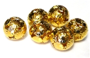 4pc antique gold geisha rounds 16mm
