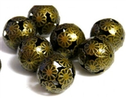 4pc antique brass small geisha rounds