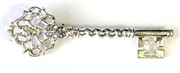 1pc rhinestone key brooch finding 70x20mm