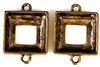 2pc antique gold 14mm cosmic square setting