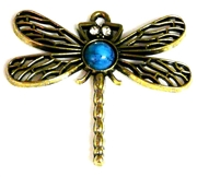 1pc filigree dragonfly pendant turquoise middle 46x46mm