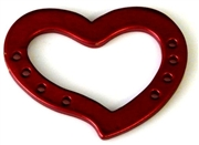 1pc metal pendant / base red heart