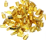 50PC Thonging End Antique Gold 6mm