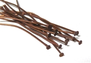 50pc antique copper headpins 50mm