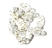 10PC Antique Silver  Earring Bail Leaf Design