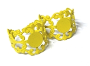 2PC Yellow Filigree Ring Base with Pad