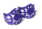 2PC Purple Filigree Ring Base with Pad