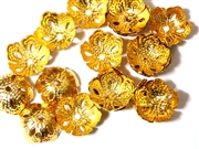 15pc antique gold plated 12mm Flower Filigree beadcaps