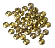 25PC Antique Gold 6mm Saucer Spacer