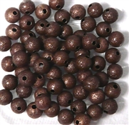 25PC Antique Copper Stardust Rounds 6mm