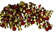 50pc 4mm rhinestone point backs acrylic red
