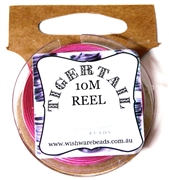 10m Tigertail Reel Hot Pink