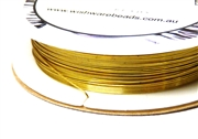 15m 26 Gauge thickness Brass Wire Gold