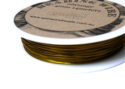 14m 26 Gauge thickness Brass Wire Gold