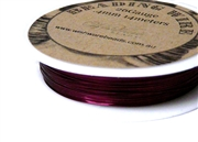 14m 26 Gauge thickness Brass Wire Dark Purple
