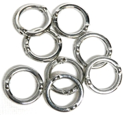 10pc Metalized Plastic Silver Round Frame Beads 18mm