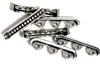 3pc 3 Strand Spacer Bars Antique Silver Dotted Line