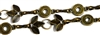 Antique Brass Leaf & Round Chain (24 Link Length)