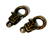 2pc Antique Brass Lobster Clasp Small Square 18x10mm