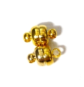 2pc Gold Plated Magnetic Clasps 8mm
