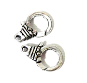 2pc Silver Plated Large Lobster Clasp Round 18x14mm