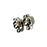 2pc Dark Silver Plated Magnetic Clasp 8mm