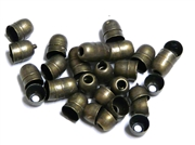 30PC Antique Brass 6mm Beadcone Ends