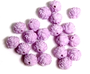 6pc Resin Antique Flower Beads 10mm Lavender