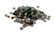 100pc 4mm rhinestone flat backs assorted colours