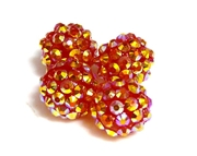 2pc 10mm acrylic rhinestone rounds red