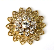 1pc swarovski crystal filigree gold clear crystal 26mm
