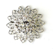 1pc swarovski crystal filigree silver clear crystal 26mm
