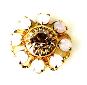 1pc swarovski crystal filigree flower small 10mm gold rose alablaster