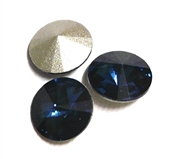 3pc Crystal Rivoli Stone 14mm Montana Blue