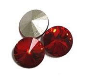 3pc Crystal Rivoli Stone 14mm Red